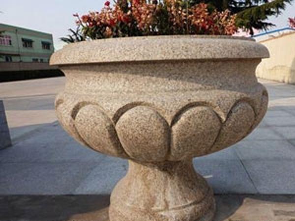 五莲花花坛雕刻